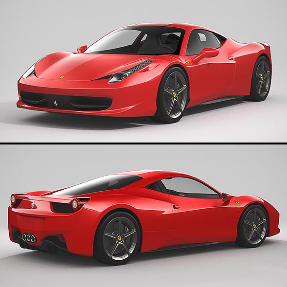 3DOcean Ferrari 458 Italia 20999424