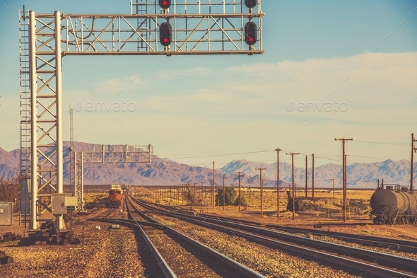 California Railroad System - Stock Photo - Images