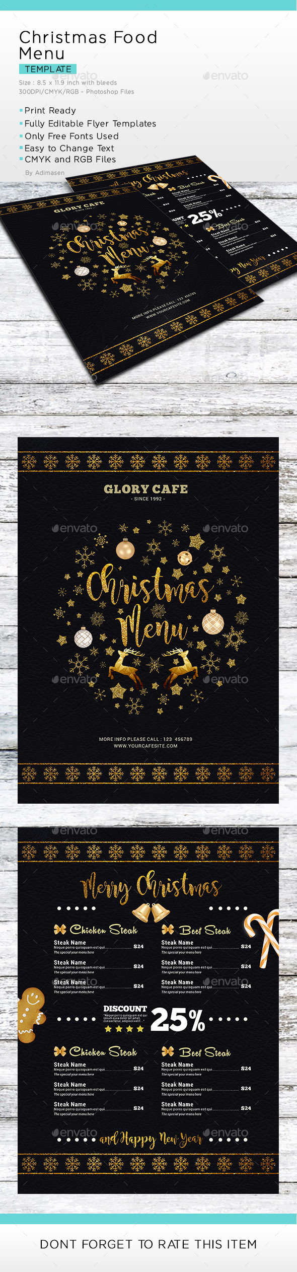 GraphicRiver Christmas Menu 20999621