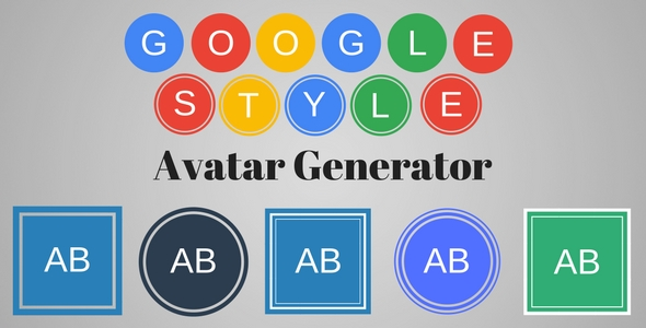 Google Style Text Avatar Generator - CodeCanyon Item for Sale