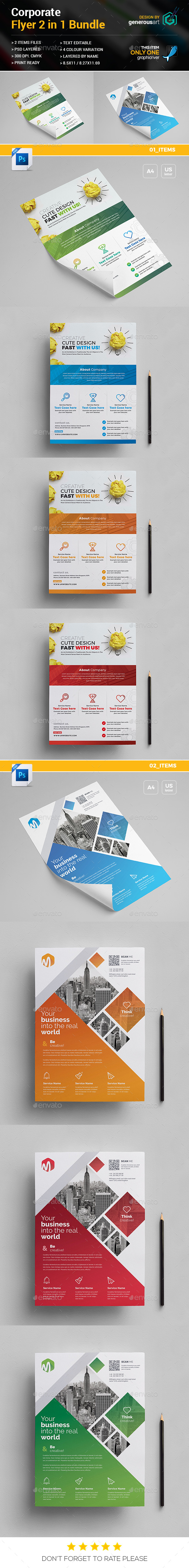 GraphicRiver Flyer Bundle 2 in 1 20999718