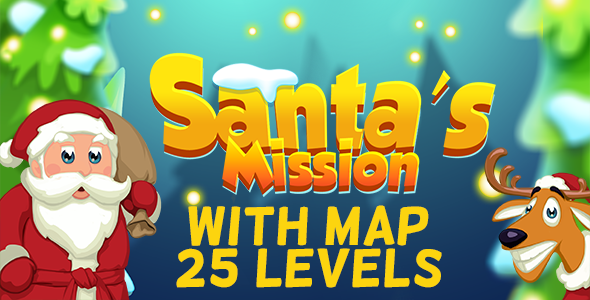 CodeCanyon Santa's Mission Match3 HTML5 Game w Map & 25 Levels 20999734