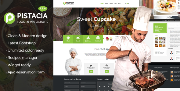 Pistacia - Food, Recipes, Restaurant Responsive WP Theme - Food Retail