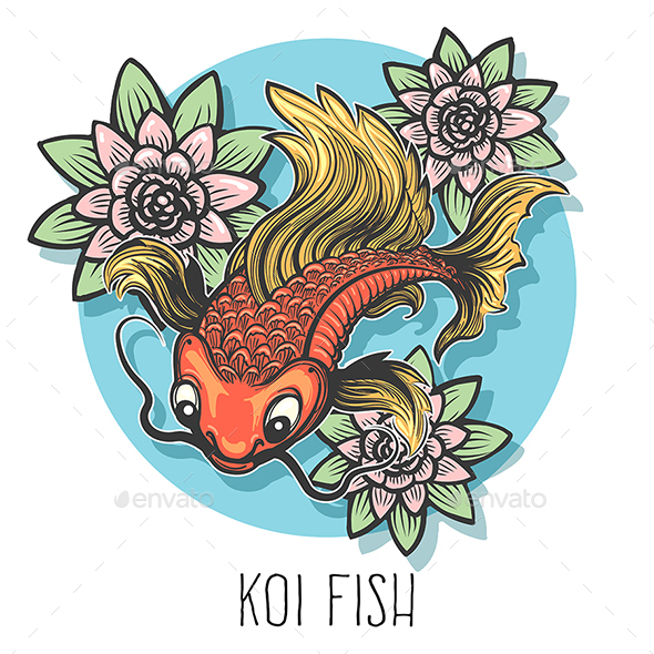 GraphicRiver Koi Fish Hand Drawn Illustration 20999829