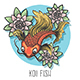 Koi Fish Hand Drawn Illustration - GraphicRiver Item for Sale