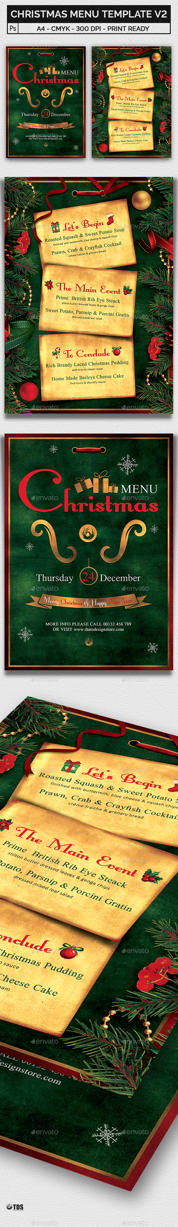 Christmas Menu Template V2 - Restaurant Flyers
