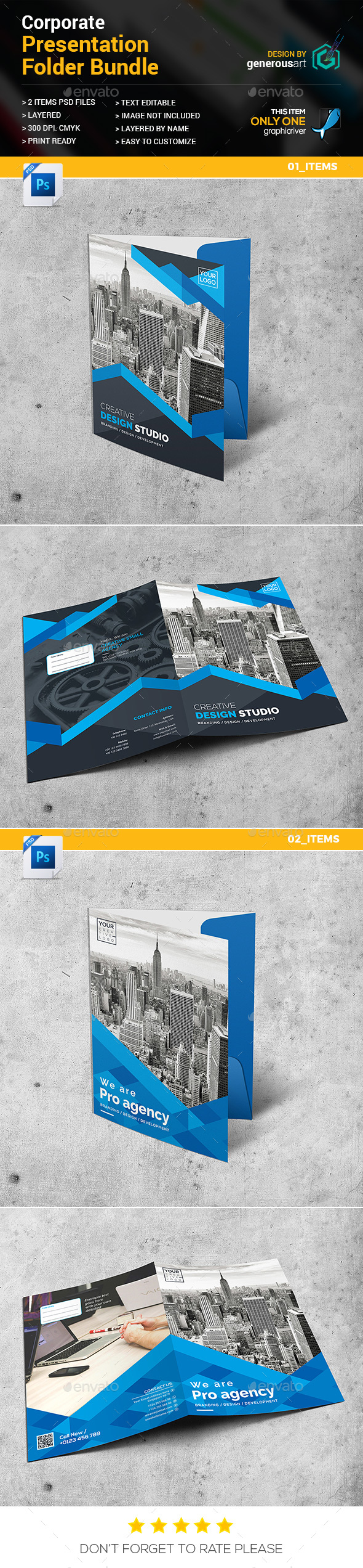 GraphicRiver Presentation Folder Bundle 2 in 1 20999909