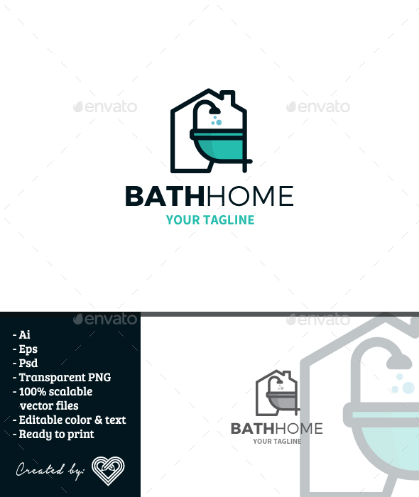 Bath Home - Buildings Logo Templates