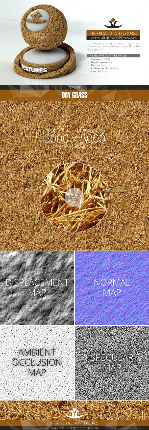 Dry Grass 3 - 3DOcean Item for Sale