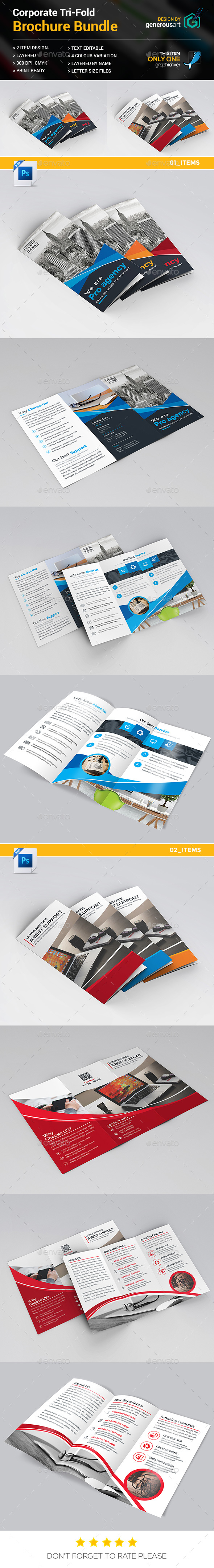 GraphicRiver Tri-fold Bundle 2 in 1 20999936