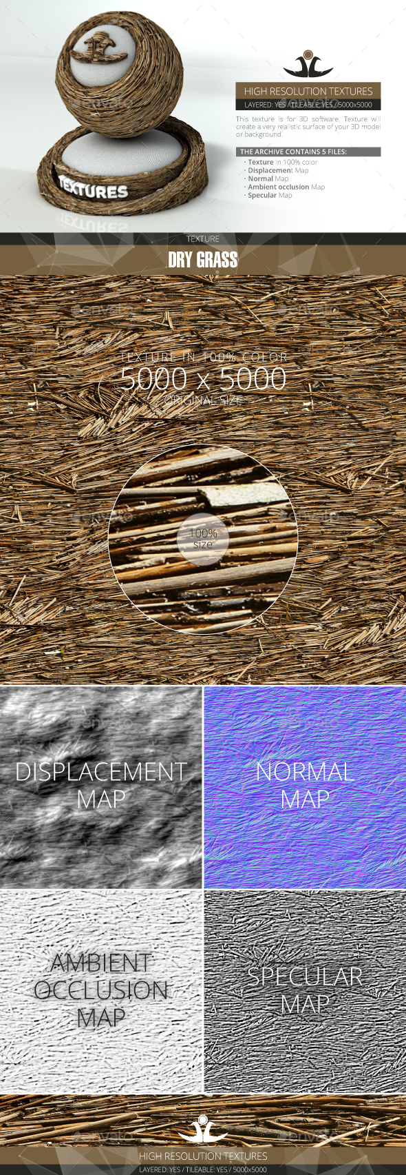 Dry Grass 4 - 3DOcean Item for Sale