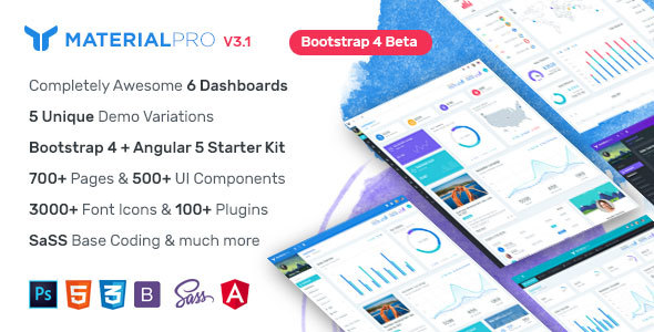 MaterialPro - Bootstrap 4 Admin Template + Angular 5 Starter Kit