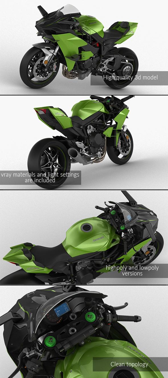 3DOcean Kawasaki Ninja H2R 21000361