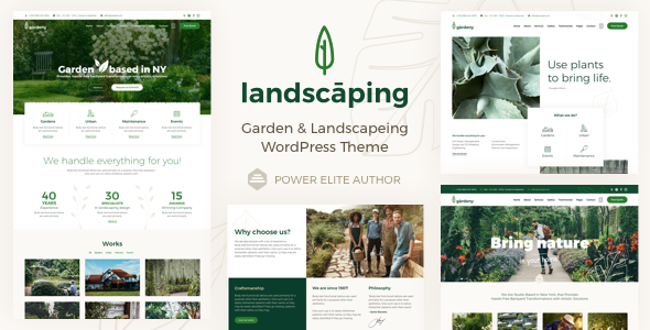 Landscaping - Garden Landscaper WordPress - Business Corporate