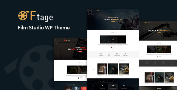 Ftage - Movie Film Marketing WordPress Theme