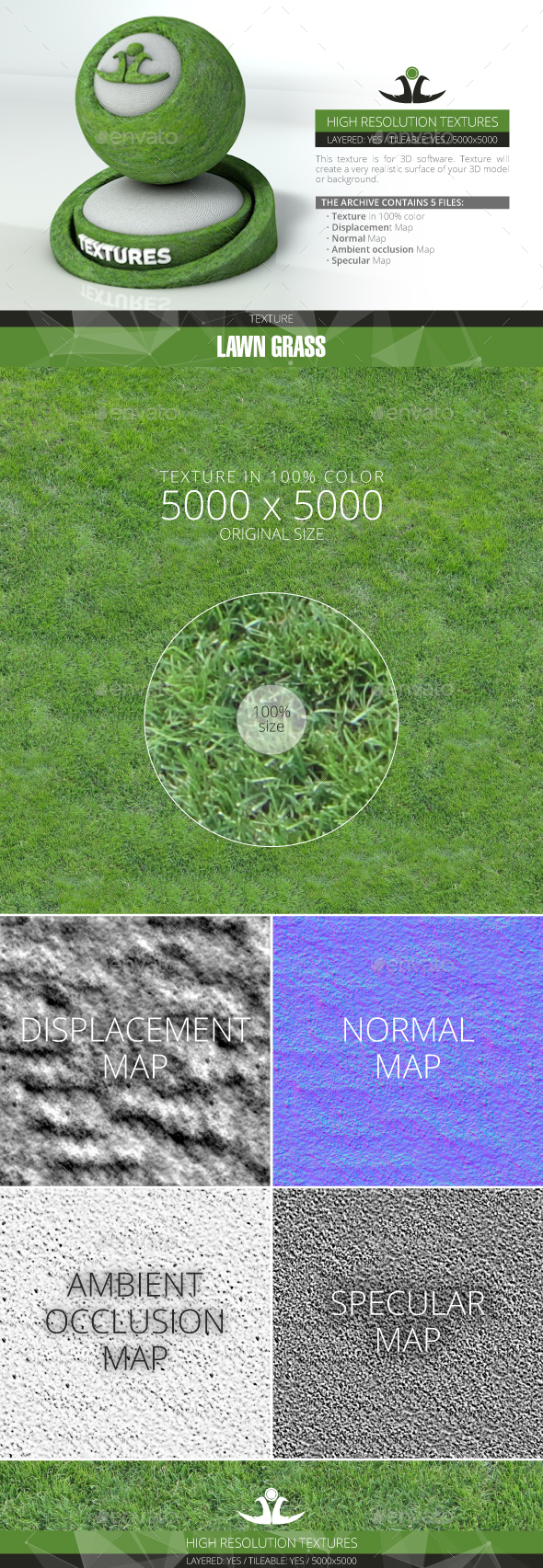 Lawn Grass 2 - 3DOcean Item for Sale