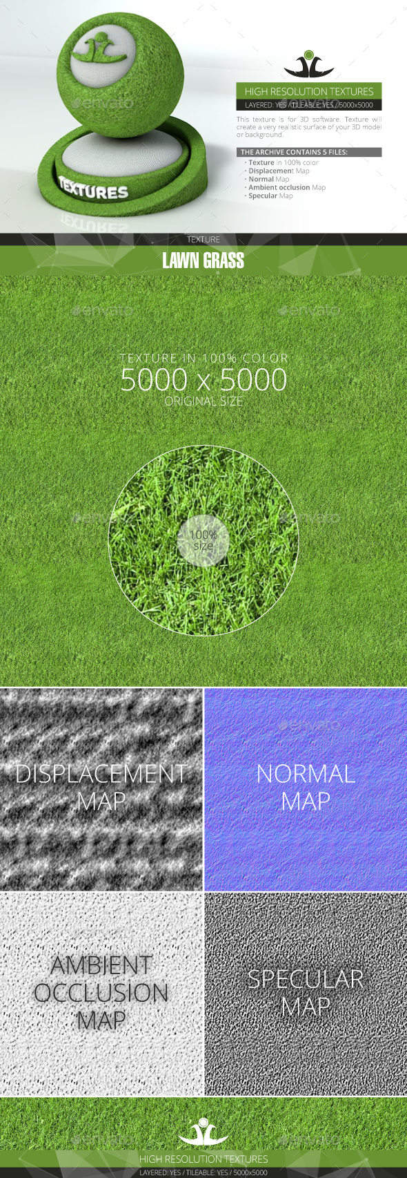 Lawn Grass 10 - 3DOcean Item for Sale