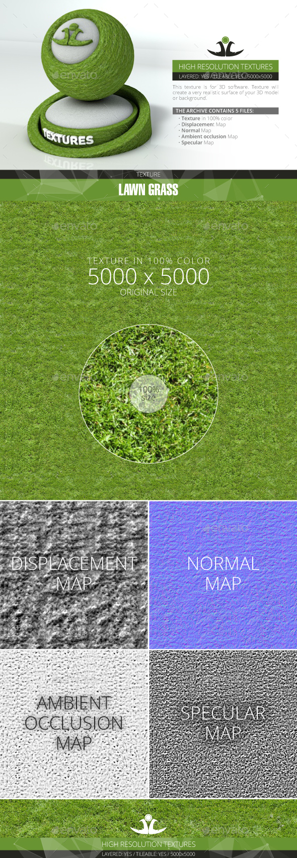 Lawn Grass 11 - 3DOcean Item for Sale