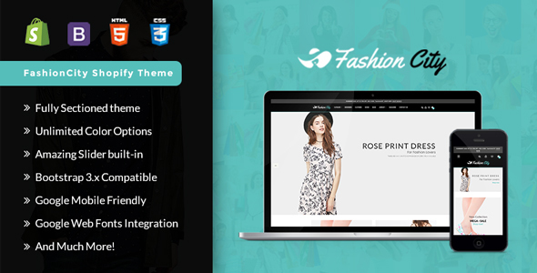 Fashion City -Shopify  Responsive Sectioned Theme - Shopify eCommerce