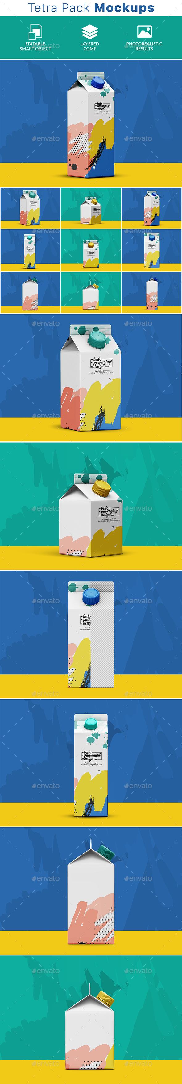 GraphicRiver Tetra Pack PSD Mockup 21001435