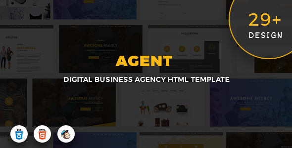 ThemeForest Agent Digital Business Agency Template 20904085
