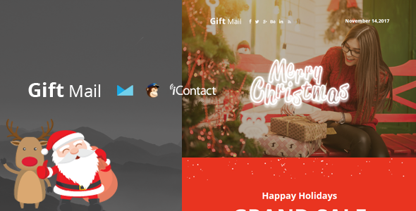 Gift Mail - Christmas Email Templates set + Online Access