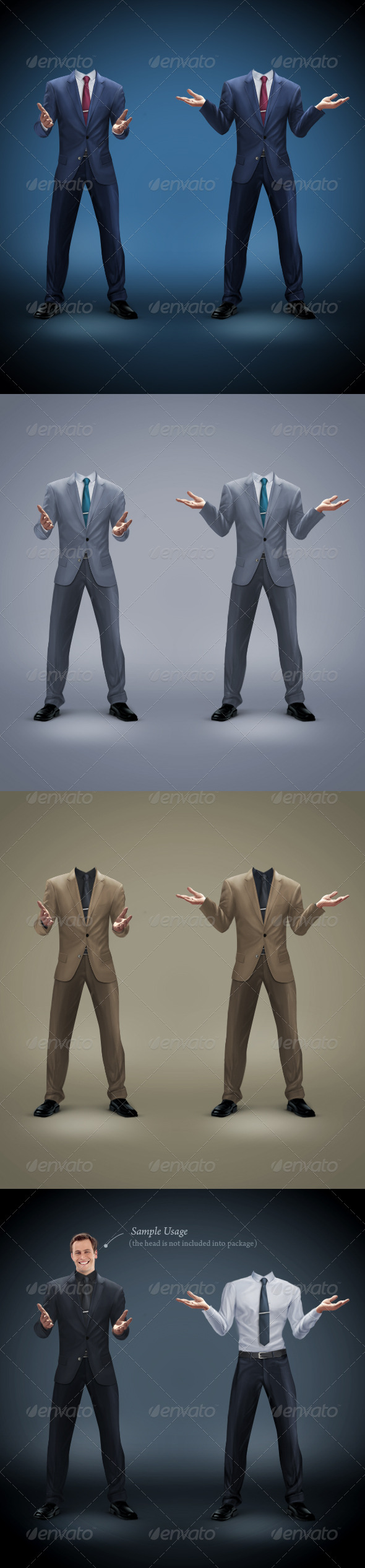 Businessman Template 2 - Business Illustrations