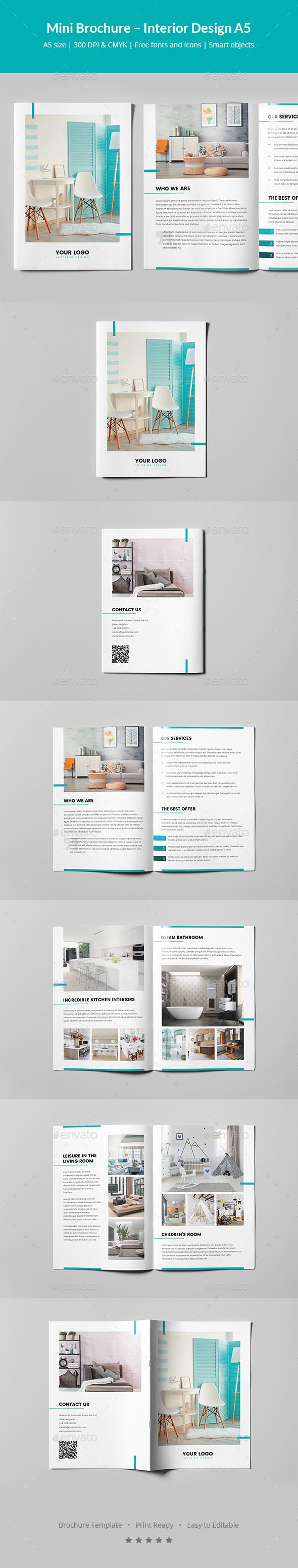 Mini Brochure – Interior Design A5 - Informational Brochures