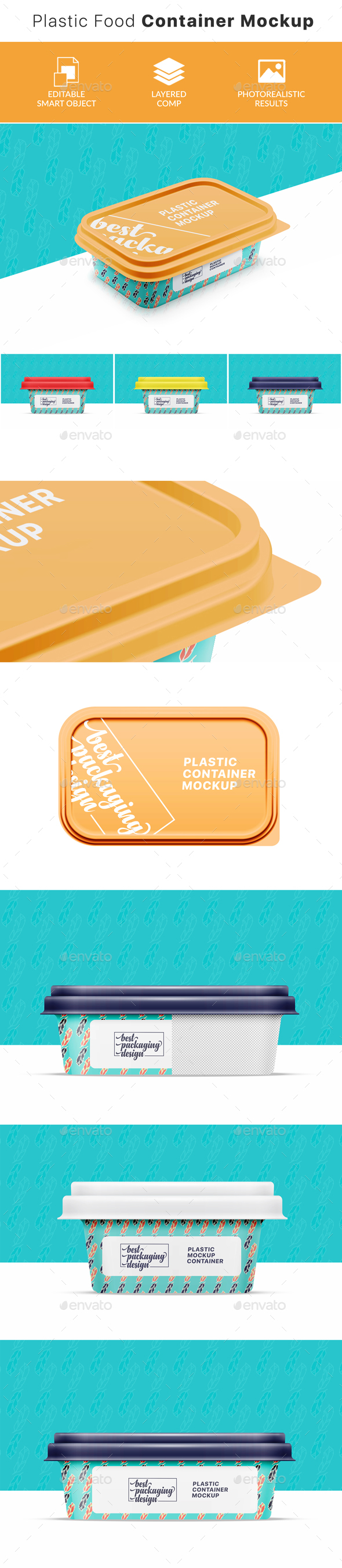 GraphicRiver Plastic Food Container Mockup 21001715