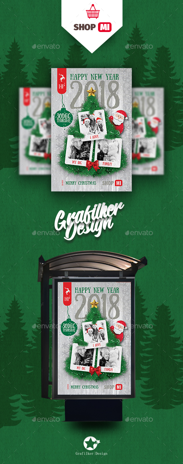 GraphicRiver Christmas Poster Templates 21001732