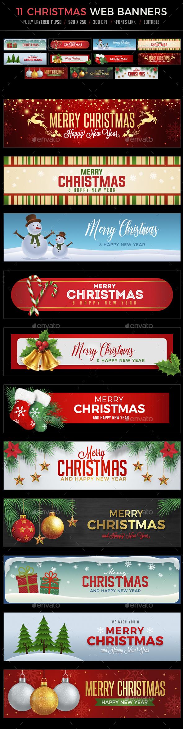 GraphicRiver 11 Christmas Web Banners 21001740