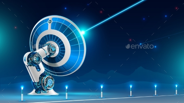GraphicRiver Large Satellite Dish Broadcast Radio Signal 21001748
