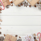 Christmas decoration and gift boxes background - PhotoDune Item for Sale