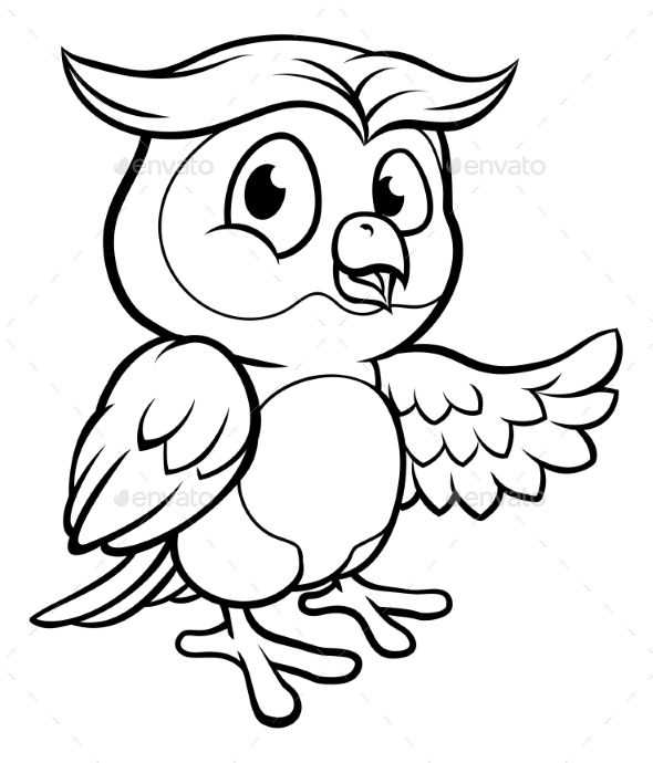 GraphicRiver Cartoon Owl Character 21001826