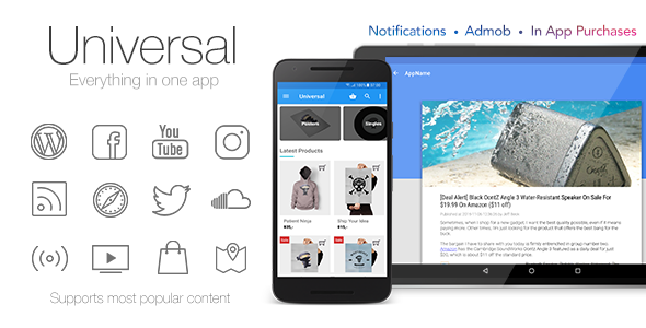 Universal - Full Multi-Purpose Android App - CodeCanyon Item for Sale