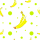 seamless pattern with bananas and green polka dots - 3DOcean Item for Sale