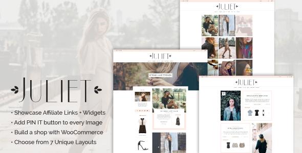 Juliet - A Blog & Shop Theme for WordPress - Blog / Magazine WordPress