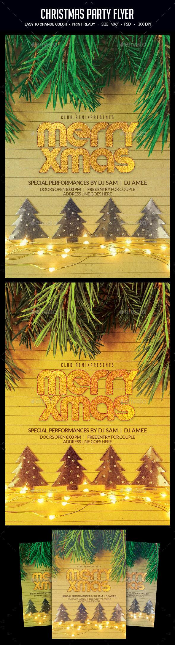 GraphicRiver Christmas Flyer 21002147