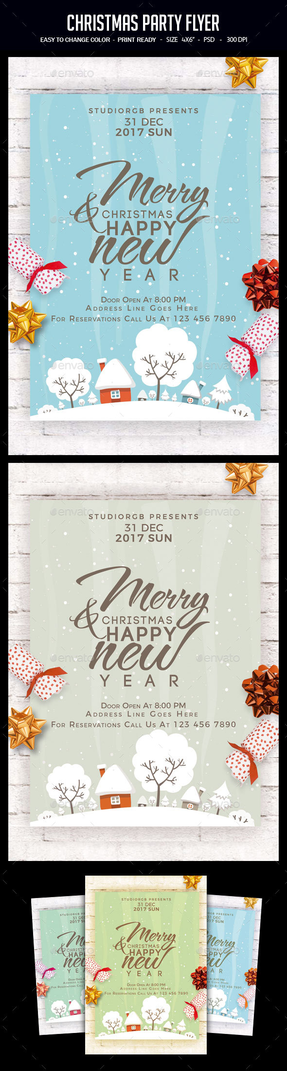 GraphicRiver Christmas Party Flyer 21002220