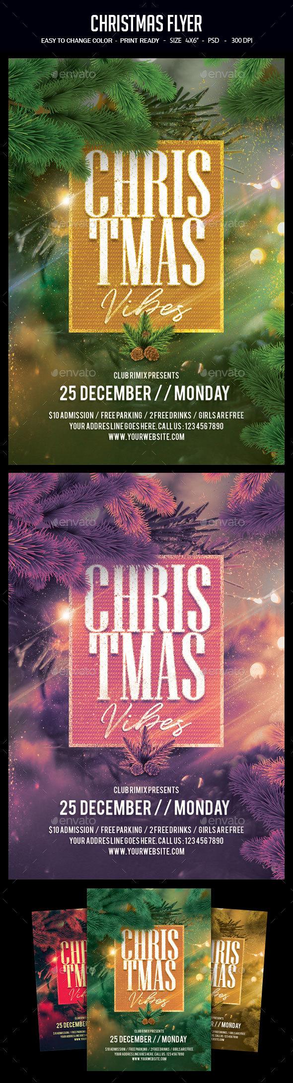 GraphicRiver Christmas Flyer 21002275