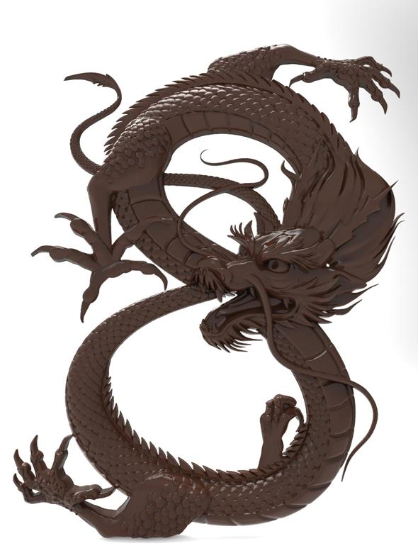 Chinese dragon bas relief for CNC - 3DOcean Item for Sale