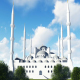 White Mosque and Trees - VideoHive Item for Sale