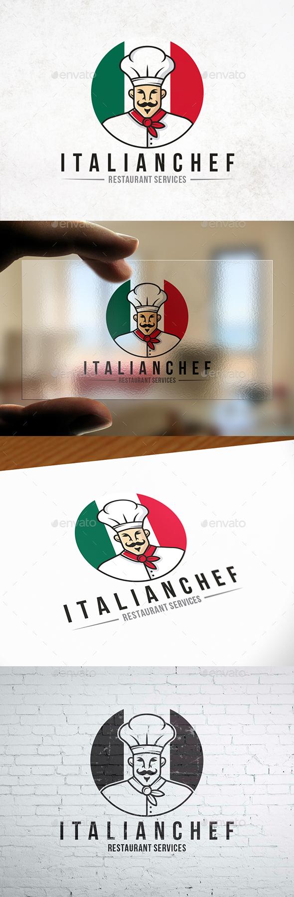 GraphicRiver Italian Chef Mascot Logo 21002471
