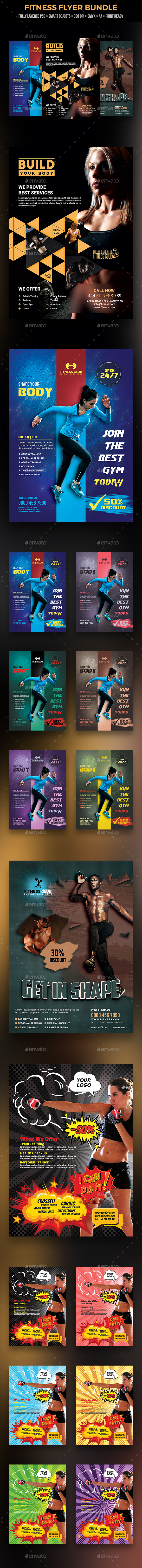 GraphicRiver Fitness Flyer Bundle 21002505