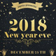 2018 New Year Party Poster - GraphicRiver Item for Sale