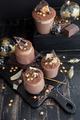 Festive chocolate mousse