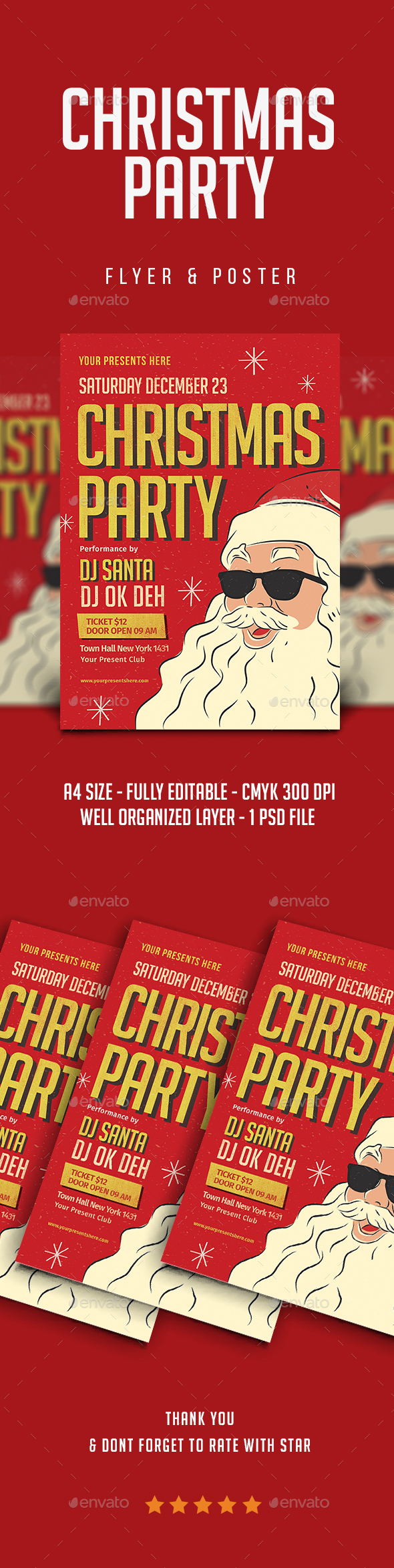 Christmas Party Flyer - Christmas Greeting Cards