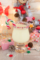 Egg nog with candy cane - PhotoDune Item for Sale