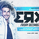 Winter DJ Electro Horizontal Flyer Template