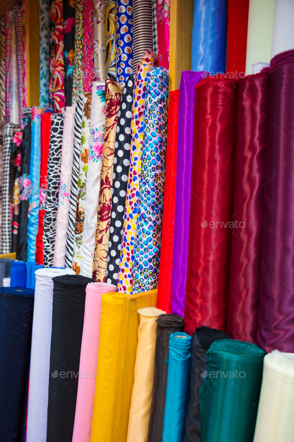 Colorful Cloths For Sale At Store - Stock Photo - Images
